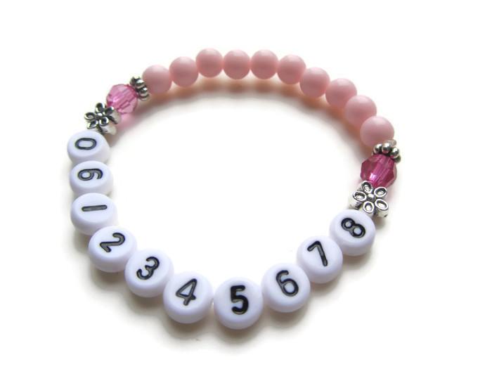 Wonderbaarlijk SOS-armbandje 06-NR cijfers | SPIKKEL & SPROET: kindersieraden IU-14