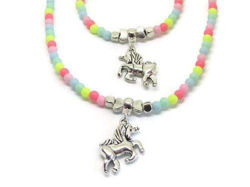 Unicorn Rainbow Sieradenset Ketting en Armband